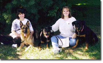 Susan & Mary & dogs